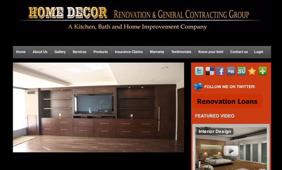 Home Decoration Website