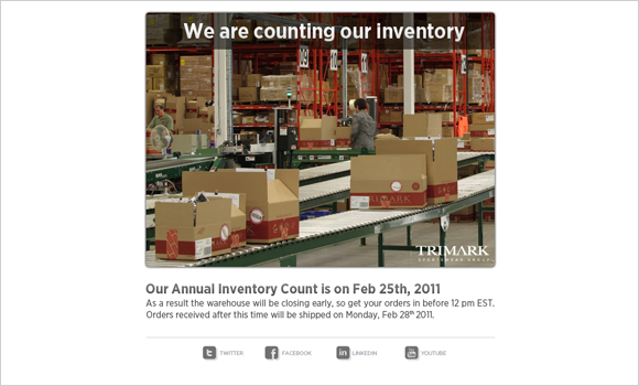 We are counting our inventory