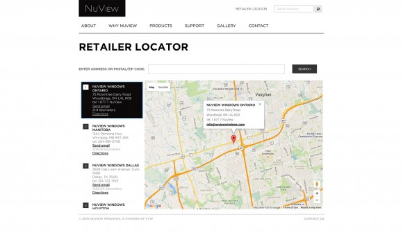 NuView Windows locator page
