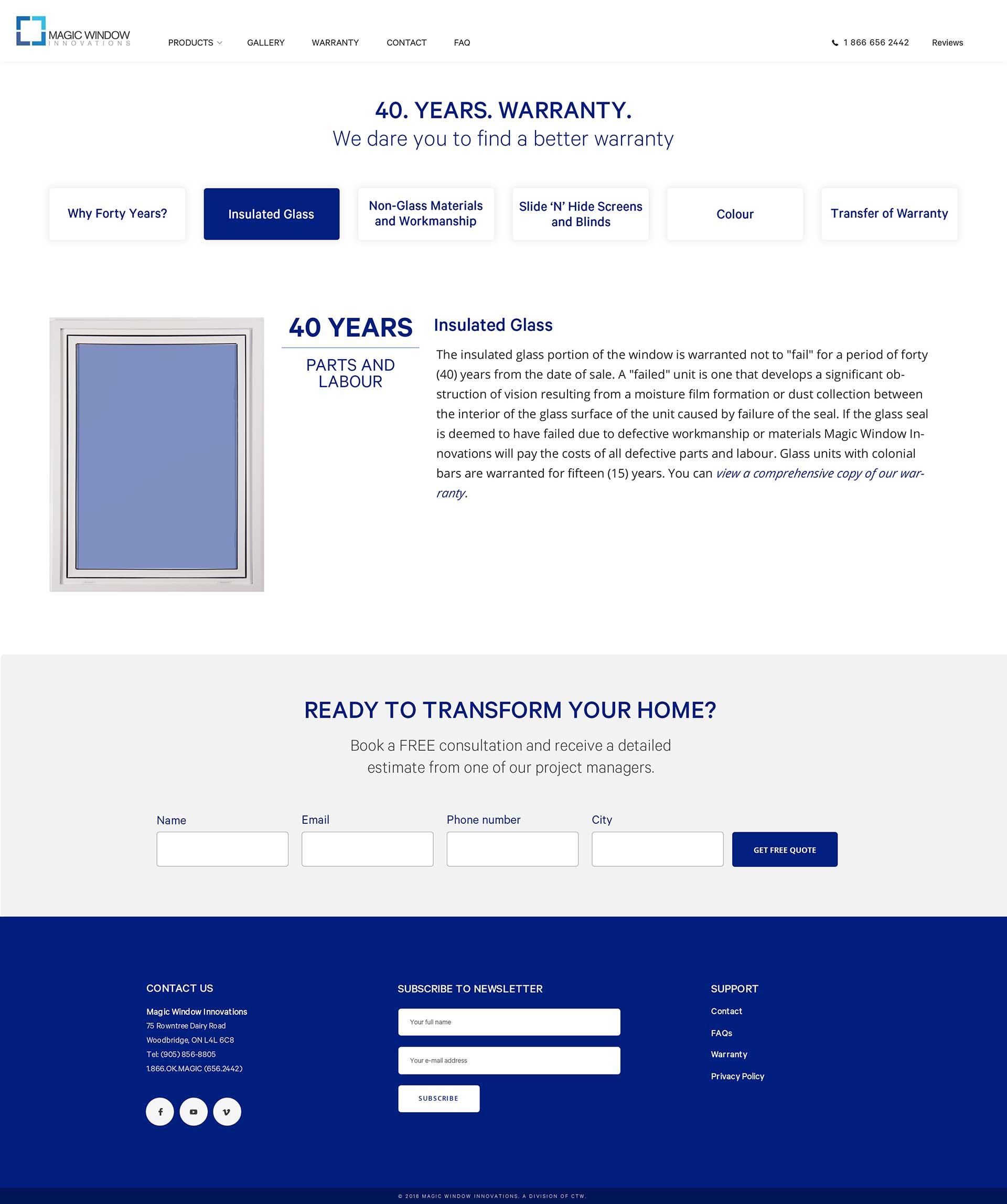 MWI warranty page